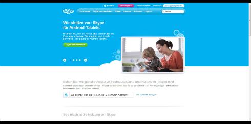 Skype Startseite