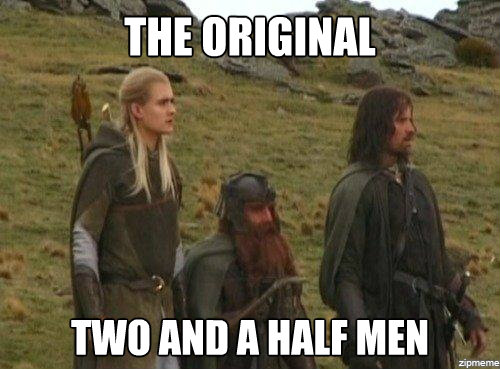 Meme Two and a half Men