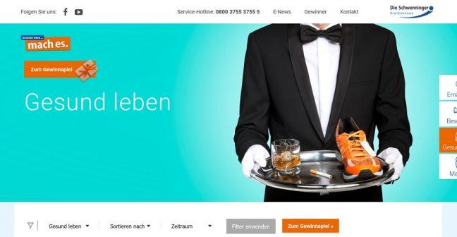 Das neue Portal der Schwenninger Krankenkasse: www.mach-es.de