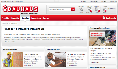 Content Marketing Im Editorial Commerce Beispiel Bauhaus